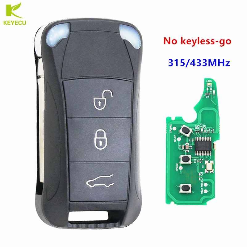 4 Buttons Smart Remote Key Fob 3+1 Button 315MHz for Porsche Cayenne 2004-2011