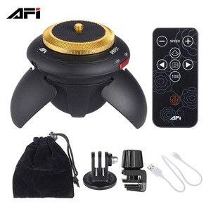 Видеокамера AFI MRP01 с временным интервалом, вращающаяся панорамная головка штатива со светодиодной подсветкой 360 Gopro, таймелирование для цифр...