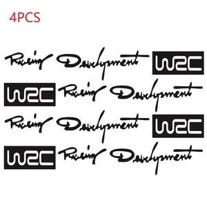 Image 2 - 4 stücke Auto Styling Mode Kreative Auto Dekorative Decals Welt Racing Entwicklung WRC Auto Tür Griff Vinyl Auto Körper Aufkleber