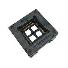 TQFP100 FQFP100 LQFP100 Bruciare in Presa OTQ 100 0.5 09 Spille Passo 0.5mm IC Dimensioni Del Corpo 14x14mm Open Top test di Adaptercket Adattatore