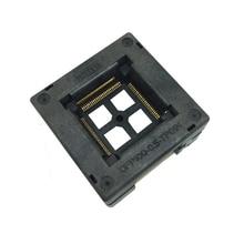 TQFP100 FQFP100 LQFP100 で燃焼ソケット OTQ 100 0.5 09 ピンピッチ 0.5 ミリメートル IC ボディサイズ 14 × 14 ミリメートルオープントップテスト Adaptercket アダプタ