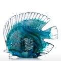 Голубая тропическая рыба стеклянная Скульптура стеклянная Рыба Скульптура современное искусство подарок украшение для дома
