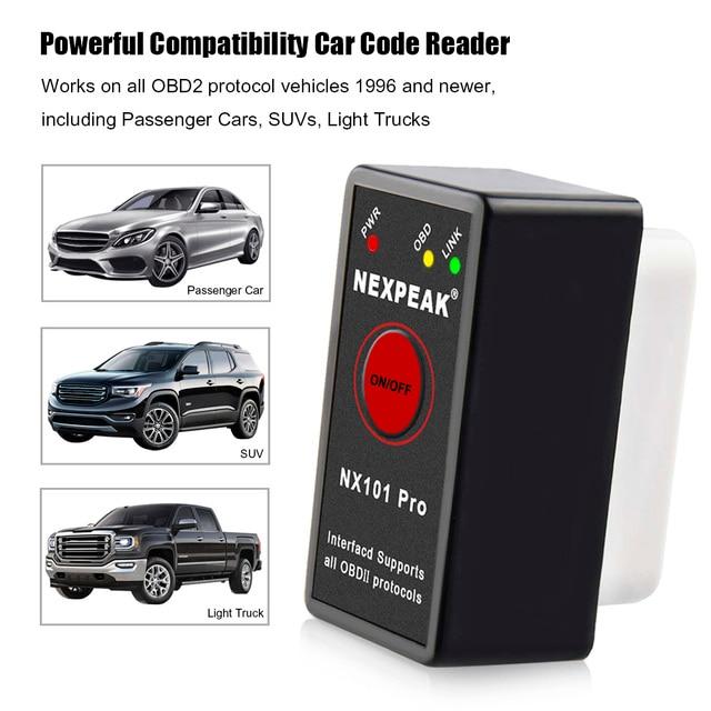 NEXPEAK NX101PRO Elm327 Bluetooth V1.5 Engine code reader Mini OBD2 Scanner  Car Diagnostic Tool OBD 2 Auto Scanner 3