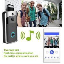 Ev WiFi akıllı Video kapı zili M7 düşük güç uzaktan kamera interkom IR sesli Alarm daireler için 1080P güvenlik kablosuz A7C4