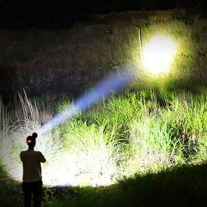 Image 5 - Lampe frontale led XHP90.2 haute puissance, lampe torche rechargeable usb, éclairage pour la pêche en randonnée, 18650, batterie externe mAh, 8000