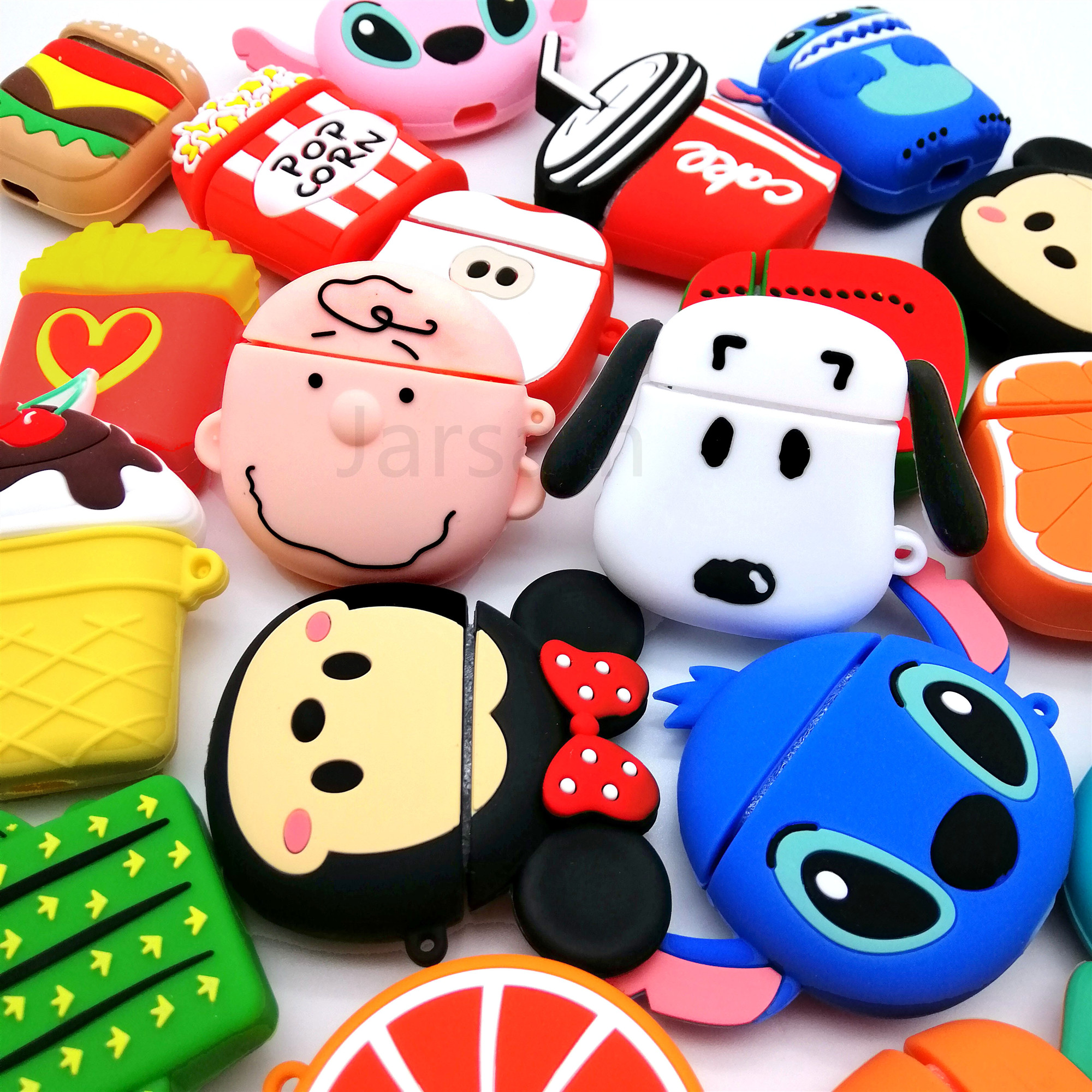 For Airpods Case Silicone Cartoon Cover For Apple Air Pods Cute Earphone Case Headphone Case For Earpods Accessories