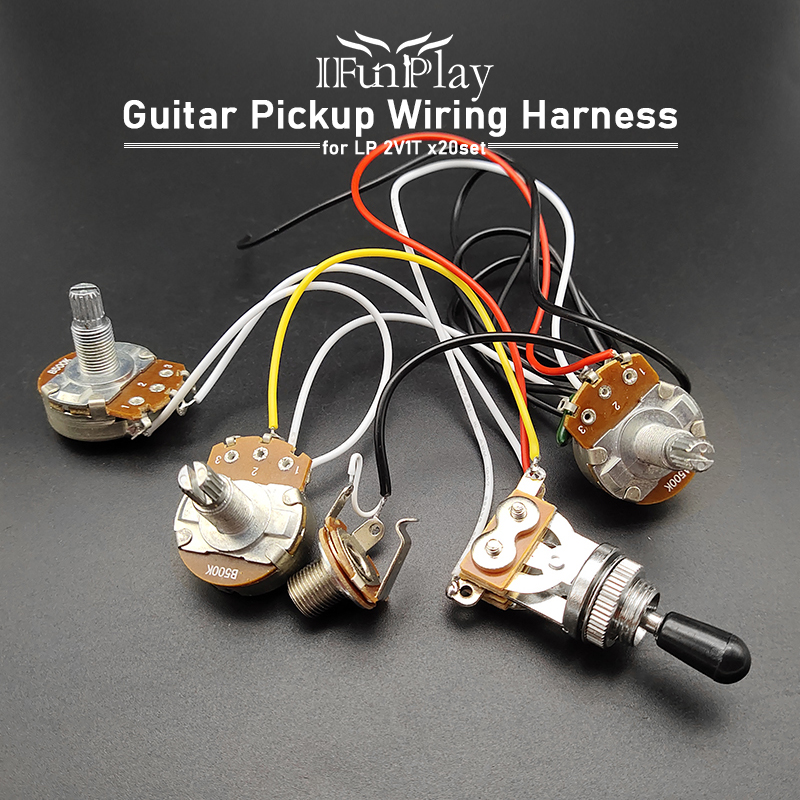 20set Electric Guitar Wiring Harness Kit 3 Way Toggle Switch 2 Volume 1 Tone  Jack 6.35mm Output for LP Electric Guitar|Guitar Parts & Accessories| -  AliExpress | Guitar Wiring Harness Volume Tone Tone |  | AliExpress