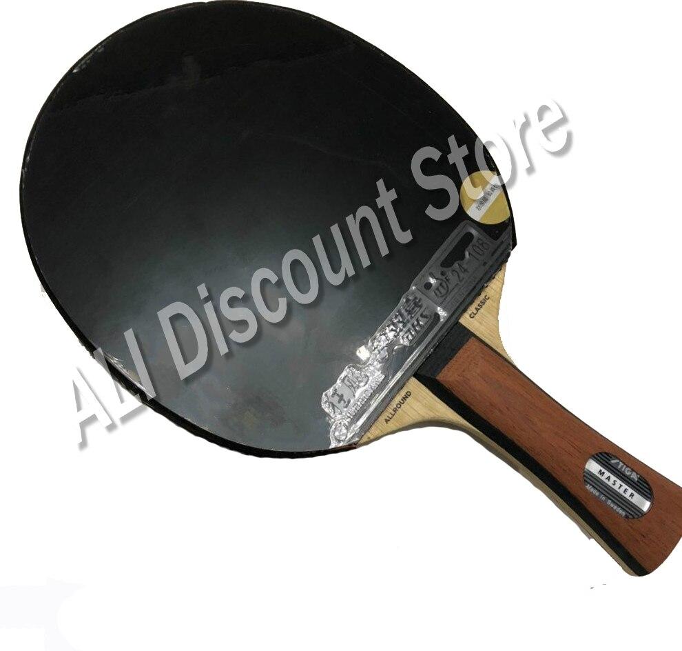 Супер светильник Stiga Allround, классический мастер настольного тенниса, летучая мышь, наступательная ракетка, Спортивная ракетка для пинг понга