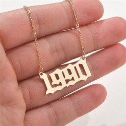 Modyle New Fashion Jewelry Special Date Year Number Necklace for Women 1989 to 2000 Collares