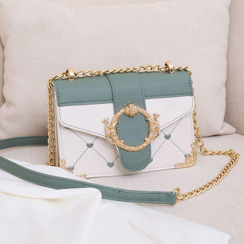 Texture bag 2021 New Single Shoulder Messenger Bag chain for women