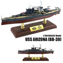 Wwii uss arizona (BB-39) 1/700 diecast modelo navio fov