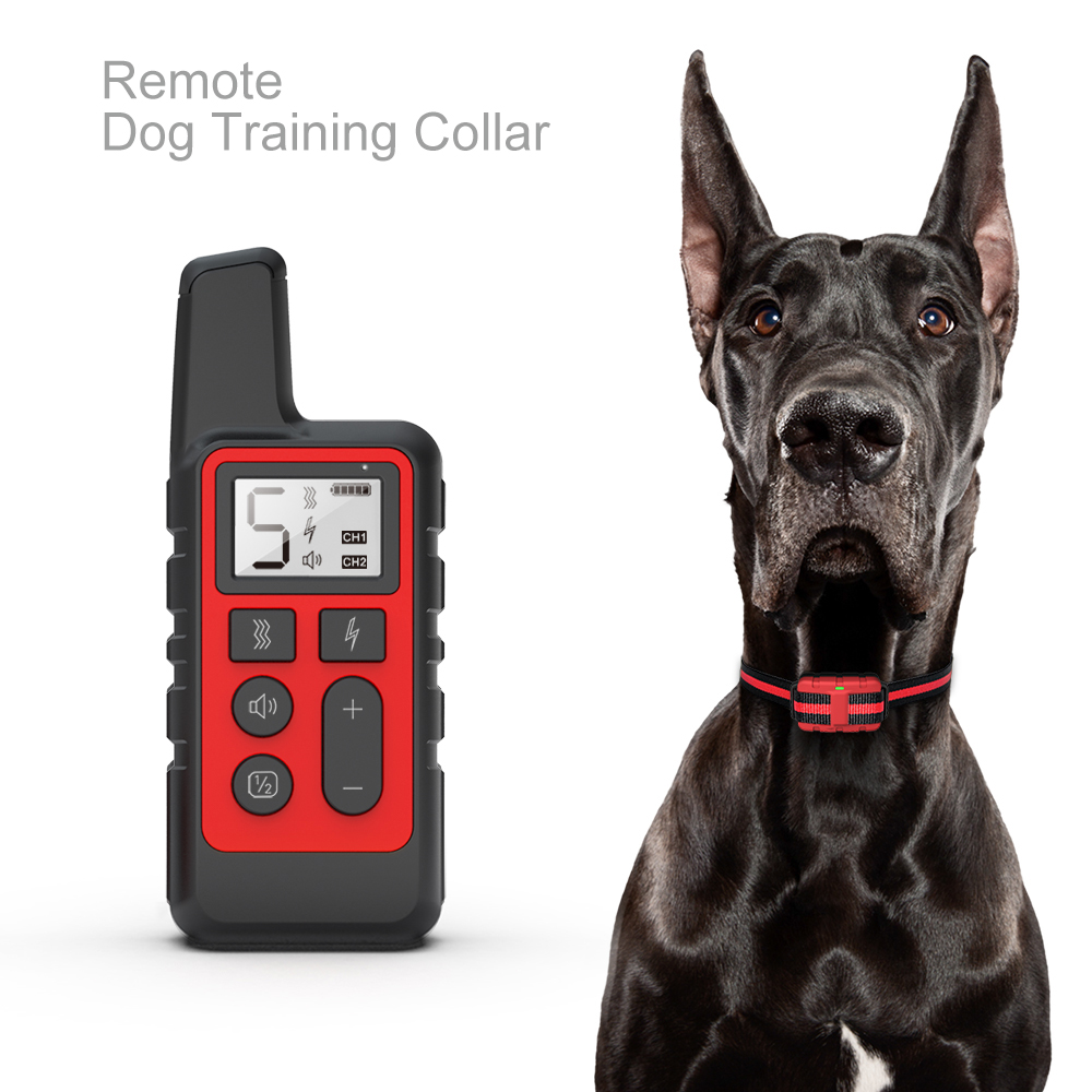 JANPet Dog Training Collar Electric Shock sound Anti-Bark Remote Waterproof Rechargeable LCD for small big dogs training(China)