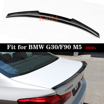 Araç arka karbon Spoiler Trunk Boot dudak kanat BMW G30 Spoiler 5 serisi 530i 540i F90 M5 Sedan 4 -Door 2017 2018