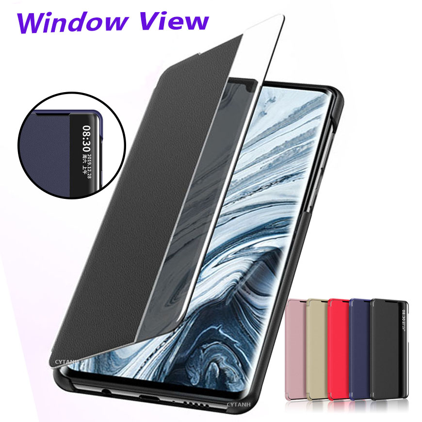 Smart View Leather Flip Case For Xiaomi Redmi Note 8 7 6 5 K20 Pro 8A 7A Mi 9T A3 CC9E CC9 Note8 Note8T K 20 K20pro Phone Cover(China)