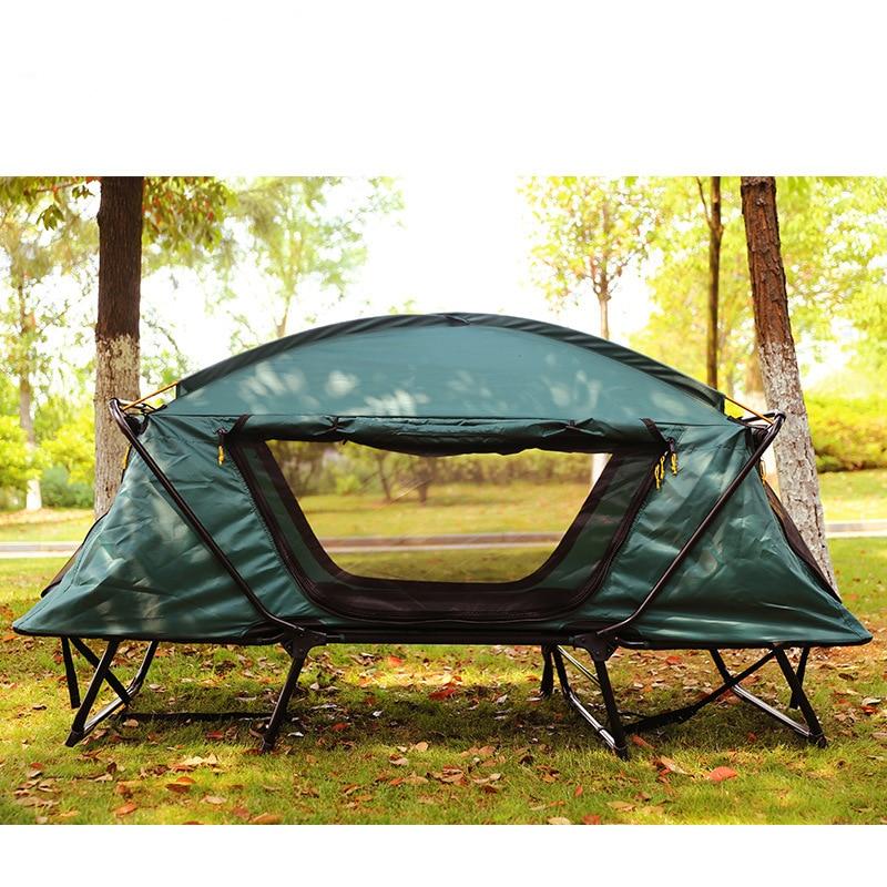 Outdoor-camping doppel zelt tragbare multi-funktionale angeln camping doppel schicht feuchtigkeit-beweis und beweis weg von der boden zelte