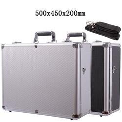 500x400x200mm Aluminium legierung Werkzeug Fall Tragbare Sicherheit Ausrüstung instrument fall datei Koffer Outdoor Sicherheit Ausrüstung box Fahrzeug Kit Box