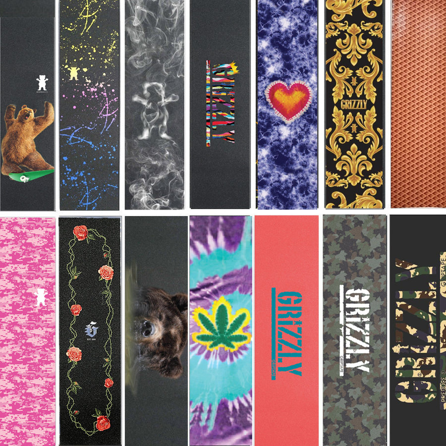 "9""x33"" Professional Grizzly Skateboard Deck Grip Tape Silicon Sandpaper With Air Hole Skateboard Deck Scooter Griptapes"