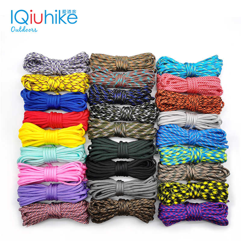 Camouflage 5 Meter Paracord 550 Parachute Cord Lanyard Mil Spec Type Iii 7 Strand Camping Survival Equipment Tenten Touw