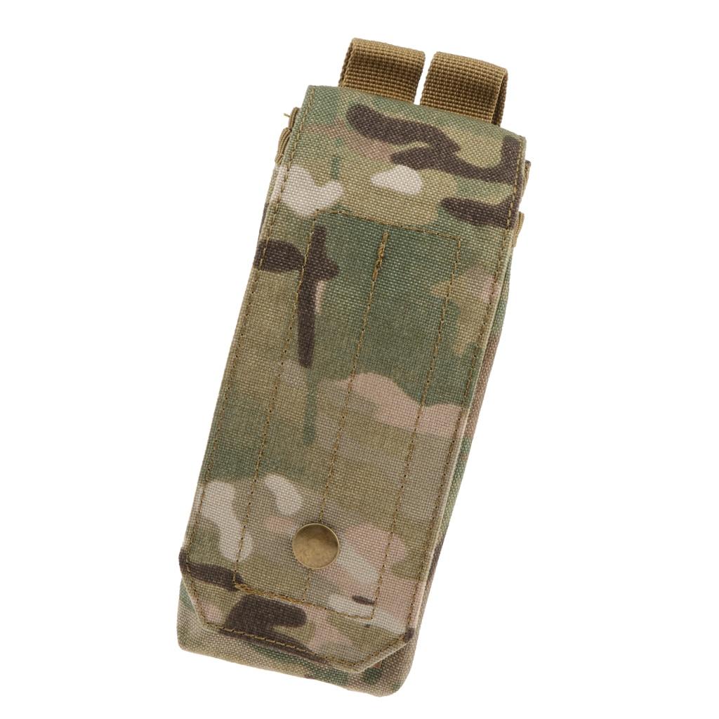 Large Size Walkie Talkie Camouflage Pocket Outdoor Mineral Water Bottle Bag Walkie Talkie Holder Holster Case Intercom Pocket
