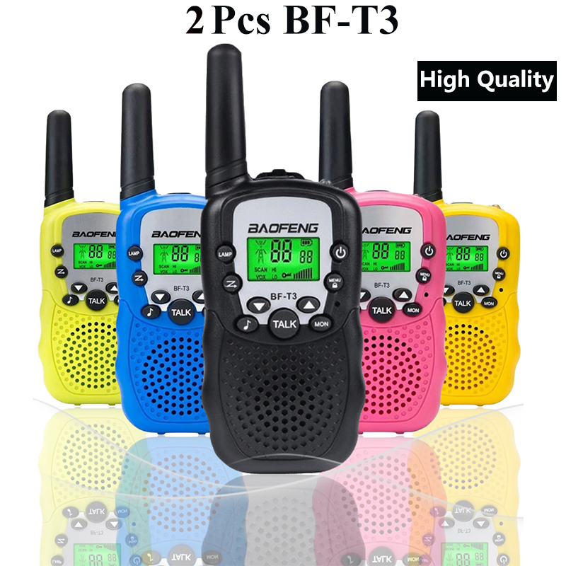 2Pcs Fashion Mini BaoFeng BF-T3 Kids Safe Portable Two-Way Radio Handheld Transceiver For Children Toys Walkie Talkie 22 Channel
