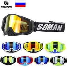 SOMAN Motocross Helmet Goggles Atv Off Road Goggles Dirt Bike Glasses Dustproof Gafas Moto Cross Brillen Motorcycle Glasses 11-S