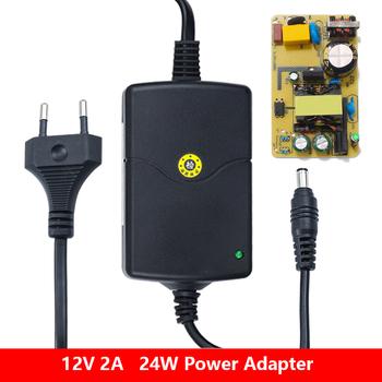 Zasilacz DC 12V 2A Adapter do zasilacza obciążenie zwarcie nadmiar prądu ochrona napięcia zasilacze wyświetlacz LED tanie i dobre opinie JUNEFOR CN (pochodzenie) Power Supplies Adapters HW187 Power Supply Adapter 5 5mm * 2 1mm Przełączania Podłącz 7cm * 5cm * 3cm