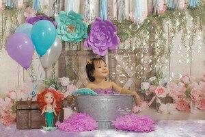 Image 3 - 신생아 아기 꽃 사진 배경 꽃 사진 스튜디오 사진 배경 아이 생일 배경 장식