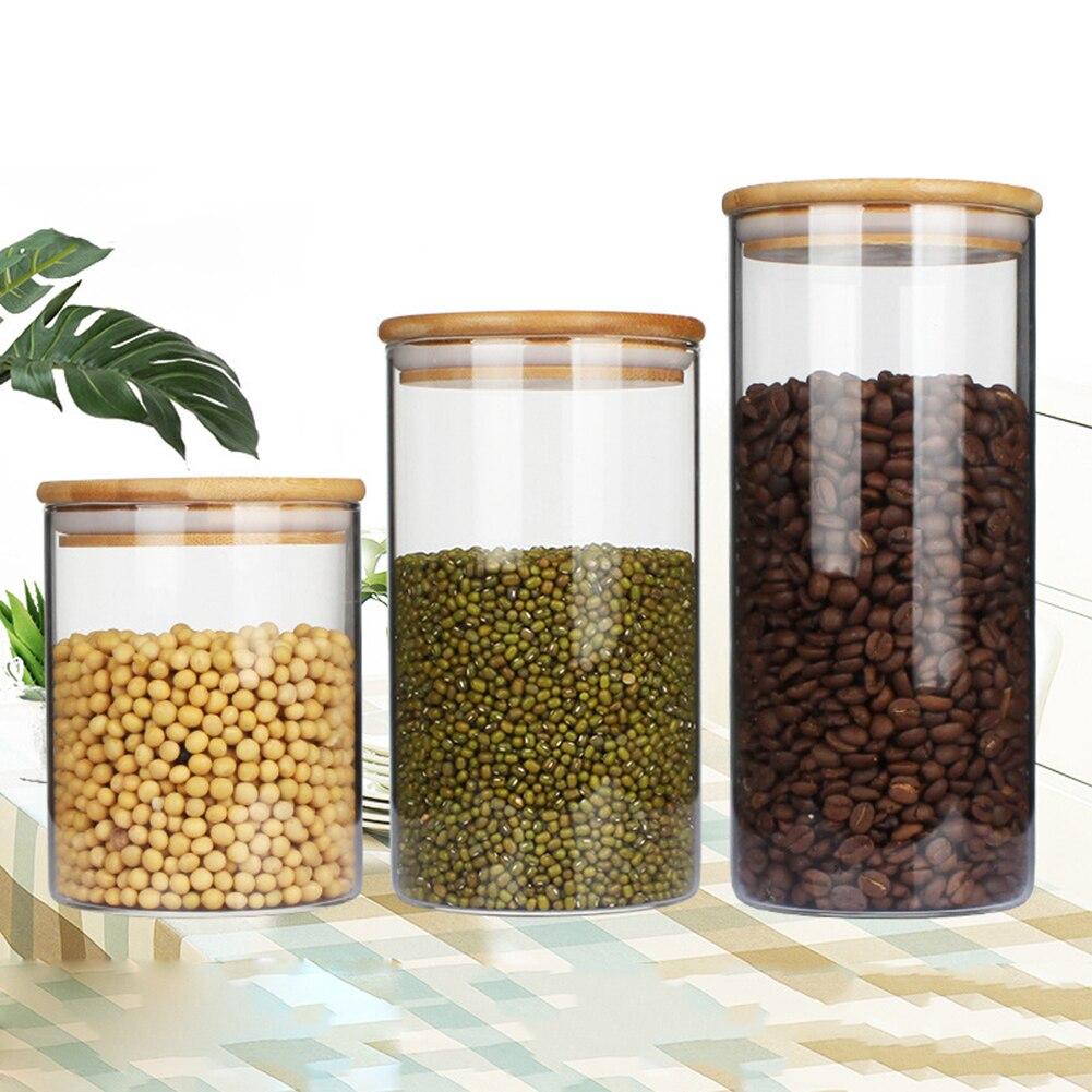 Super Deal #3274f - 4pc Airtight Glass Food Storage Jars ...