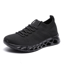 Low Top Running Shoes Men Women Breathable Knit Upper Sneakers Plus Size 35-47 Lightweight Outdoor Sport