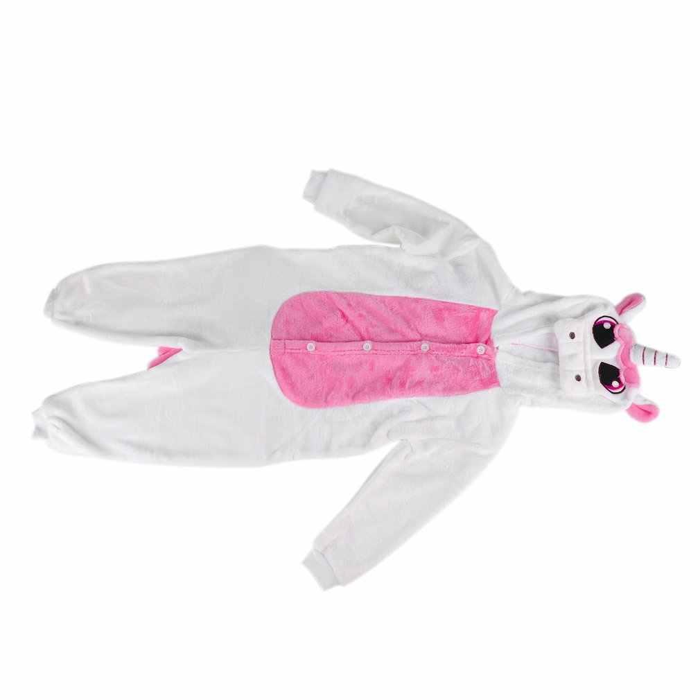 OUTAD/Детская Пижама с длинными рукавами; детская пижама с единорогом и милыми животными; цельнокроеная мягкая Фланелевая пижама; детская одежда для сна с героями мультфильмов
