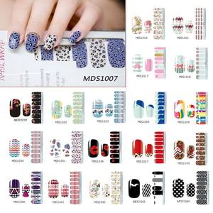 Полоски лака для ногтей Сделай Сам водонепроницаемые накладки для ногтей милые Мультяшные наклейки для ногтей накладки для ногтей для женщ...