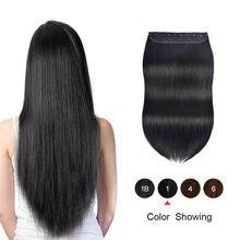 Цельнокроеные человеческие волосы для наращивания на заколке
