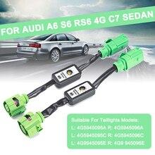 Для Audi A6 S6 RS6 4G C7 Sedan 2 шт. Динамический указатель поворота светодиодный задний светильник Модуль кабель жгут проводов левый и правый задний светильник