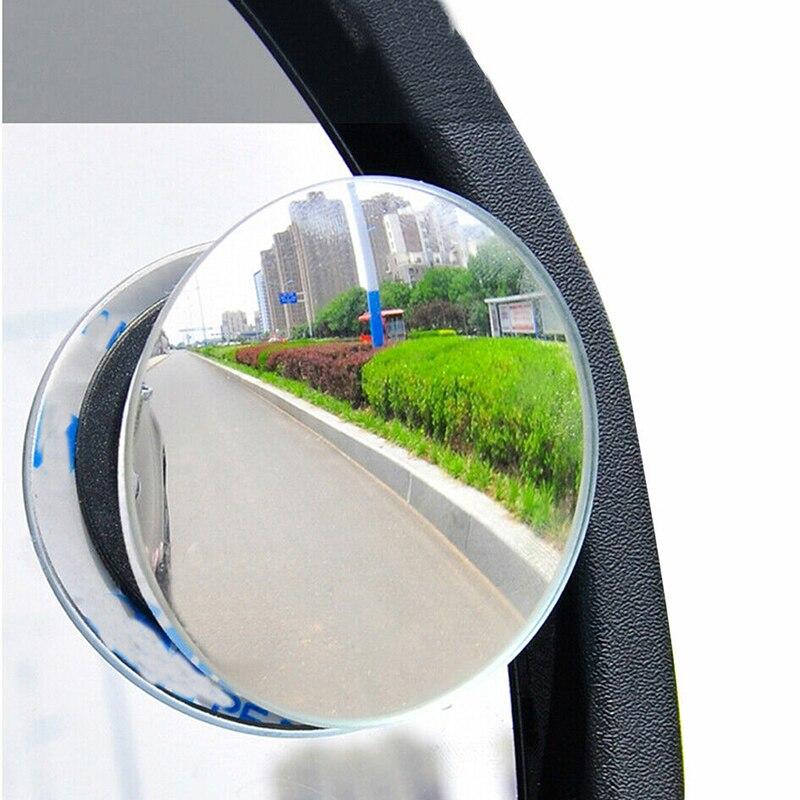 2 sztuk/1 Pc samochodów 360 stopni Framless Blind Spot lustro szerokokątny wypukłe lustro małe zaokrąglona strona Blindspot lusterko wsteczne lusterko do parkowania