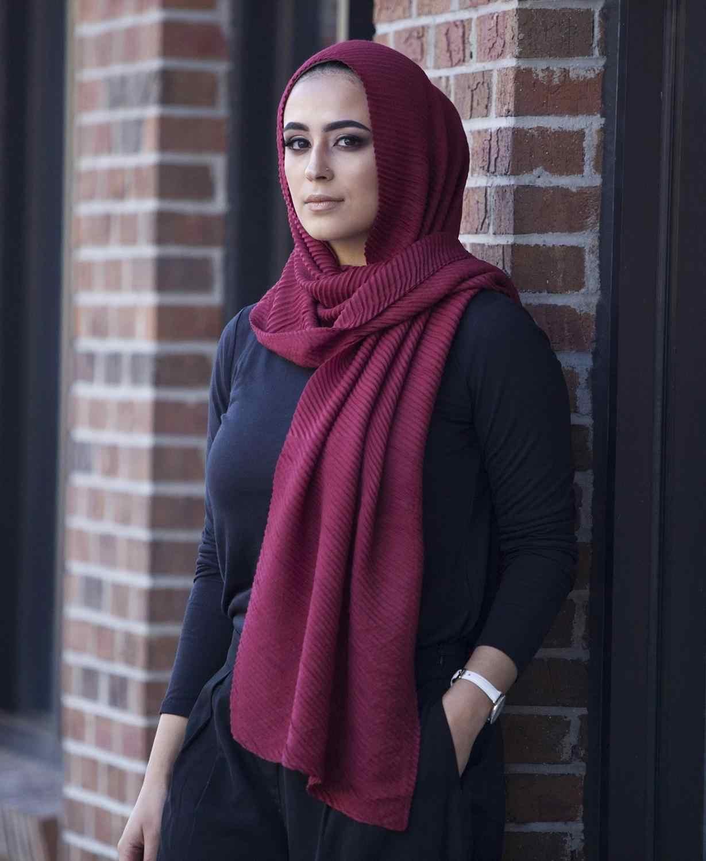 Vrouwen Vlakte Katoenen Sjaal Hoofd Hijab Wrap Solid Volledige Cover-Up Sjaals Foulard Femme Hoofdband Kreuk Moslim Hijaabs Winkel