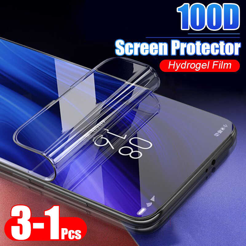 3Pcs 100D Protective Hydrogel Film For Xiaomi Redmi 4X 5A 5 Plus 8T 8 Pro 7A Pro Note 5 8 7 Pro Screen Protector Full Cover Film