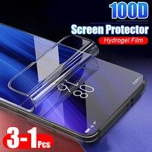 3 1 Chiếc 100D Bảo Vệ Hydrogel Cho Xiaomi Redmi 4X 5 Plus 8T 8 Pro 7A Note 8 7 9S Max Pro Bìa Bảo Vệ Màn Hình Không Kính