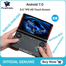 Powkiddy X18 Andriod handheld game console 5.5 inch 1280*720 screen MTK 8163 quad core 2G RAM 32G ROM Video handheld game player(China)