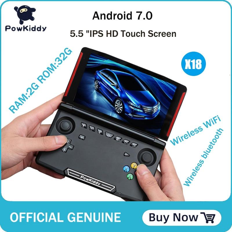 Powkiddy X18 Andriod handheld game console 5.5 inch 1280*720 screen MTK 8163 quad core 2G RAM 32G ROM Video handheld game player