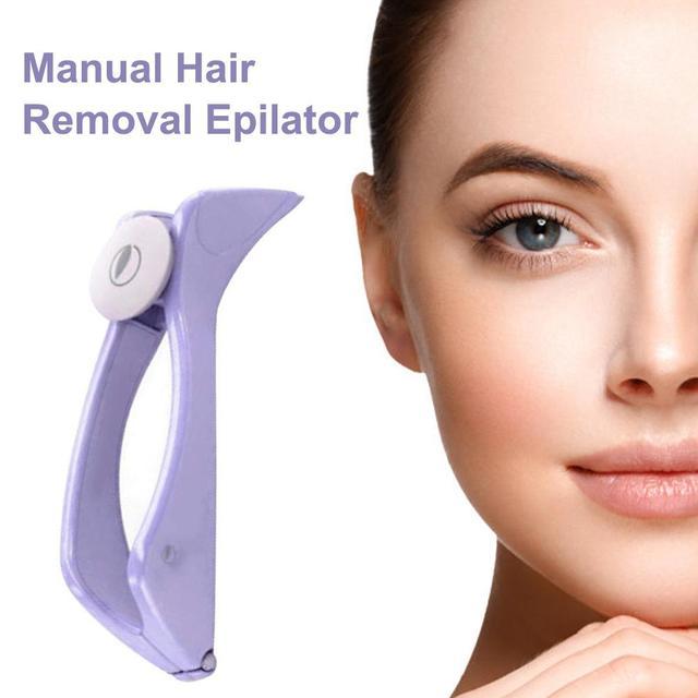 1Pcs Hair Removal Epilator Mini Facial Hair Remover Spring Threading Face Defeatherer For Cheeks Eyebrow DIY Makeup Beauty Tool 4