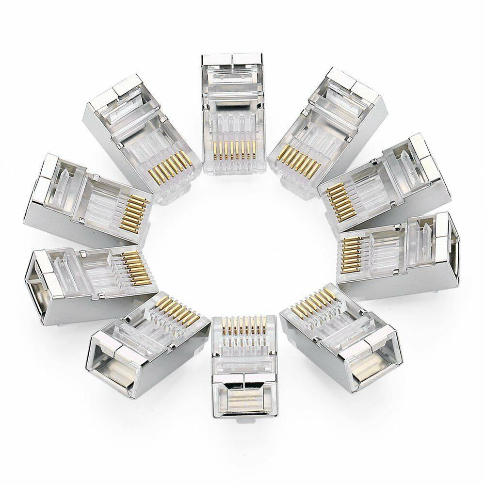 UGREEN Cat6 Cat 5e Connector Shielded Crimp RJ45 8P8C STP Ethernet Network Plug