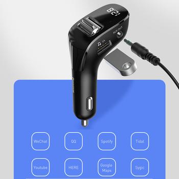 Samochodowy nadajnik FM F40 U dysk odtwarzacz MP3 ładowarka USB Bluetooth 5 0 AUX zestaw głośnomówiący unikalne części przenośny do samochodu ozdoby tanie i dobre opinie VODOOL NONE CN (pochodzenie) Car FM Transmitter Nadajniki fm Handsfree DC 12-24V 5V=2A 5V=1A 15W (Max) up to 5 meters 5 0 compatible with 4 1 4 0 2 1+EDR