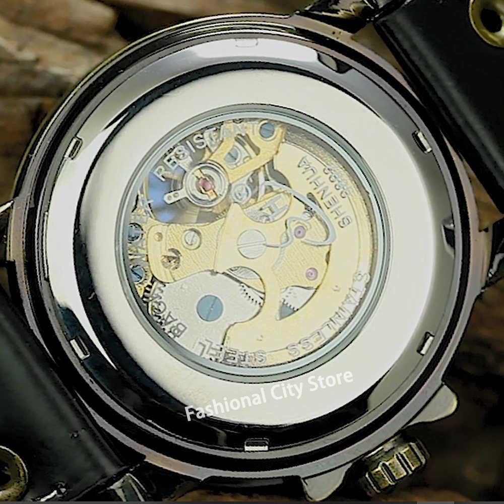 Otomatik İzle erkekler SHENHUA Vintage bronz mekanik saat Steampunk İskelet saatler montre homme yeni geliş ücretsiz kargo