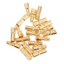 40 piece Shrink Tubing 20 Pair 6mm 6,0mm 6.0mm Gold Plug Connector Socket