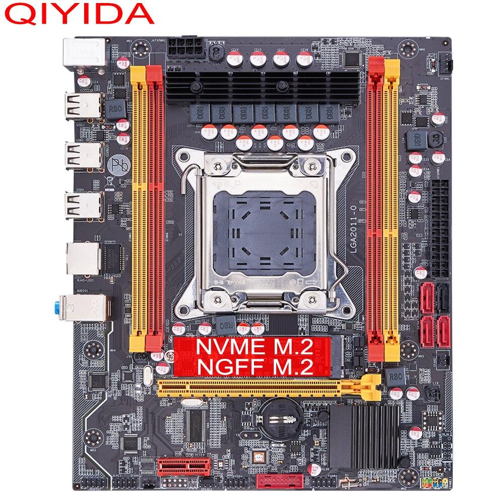 QIYIDA X79 motherboard LGA 2011 USB2.0 SATA3 Dual protocol m.2 support REG ECC memory and Xeon E5 processor DDR3 x79 6M 2