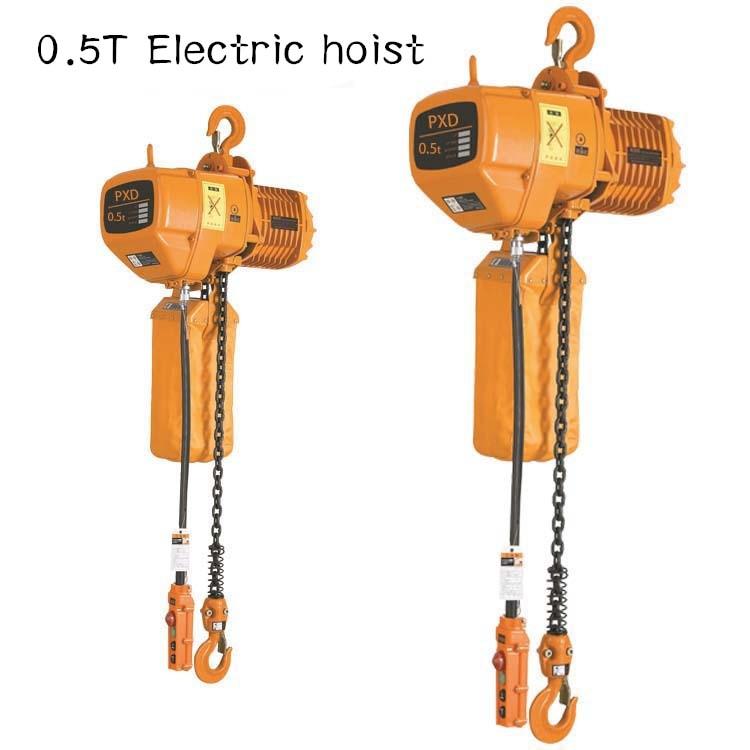0.5T Electric Hoist  Chain Hoist Single Chain Electric Hoist