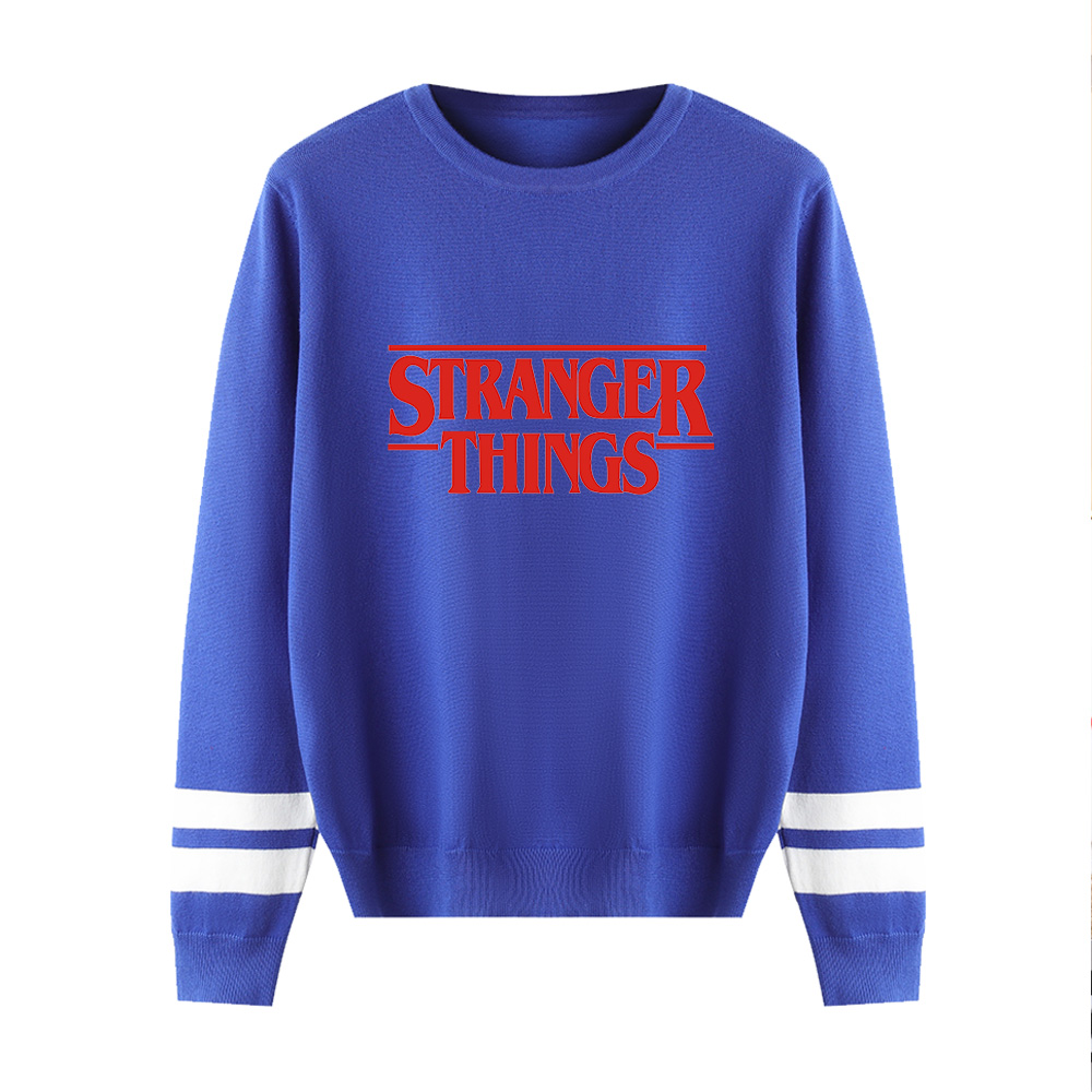 Stranger Things Sweaters Men/Women Pullover 2019 Fashion Popular Knitted Sweater Man Long Sleeve Stranger Things Casual Sweaters