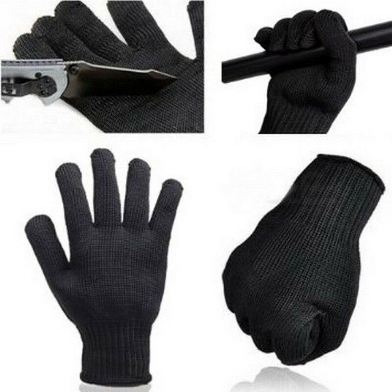1Pair Steel Mesh Safety Butcher Work Glove Cut Resistant Made With Kevlar Gloves Working Protective Safety Steel Army-Grade Tool