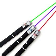 Лазерная указка 5 мВт, высокая мощность, зеленый, синий, красный точечный лазерный светильник, перьевая мощность, цветной лазерный метр 405Nm ...