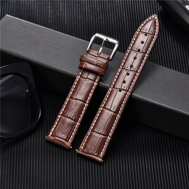 Croc Embossed Calfskin Leather Watchband (Multiple Colours) 3